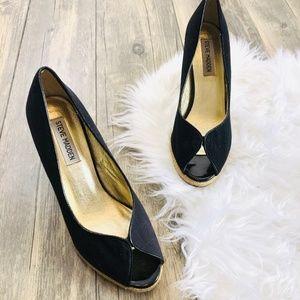 Steve Madden | Peep Toe Wedge Heel Size 7M